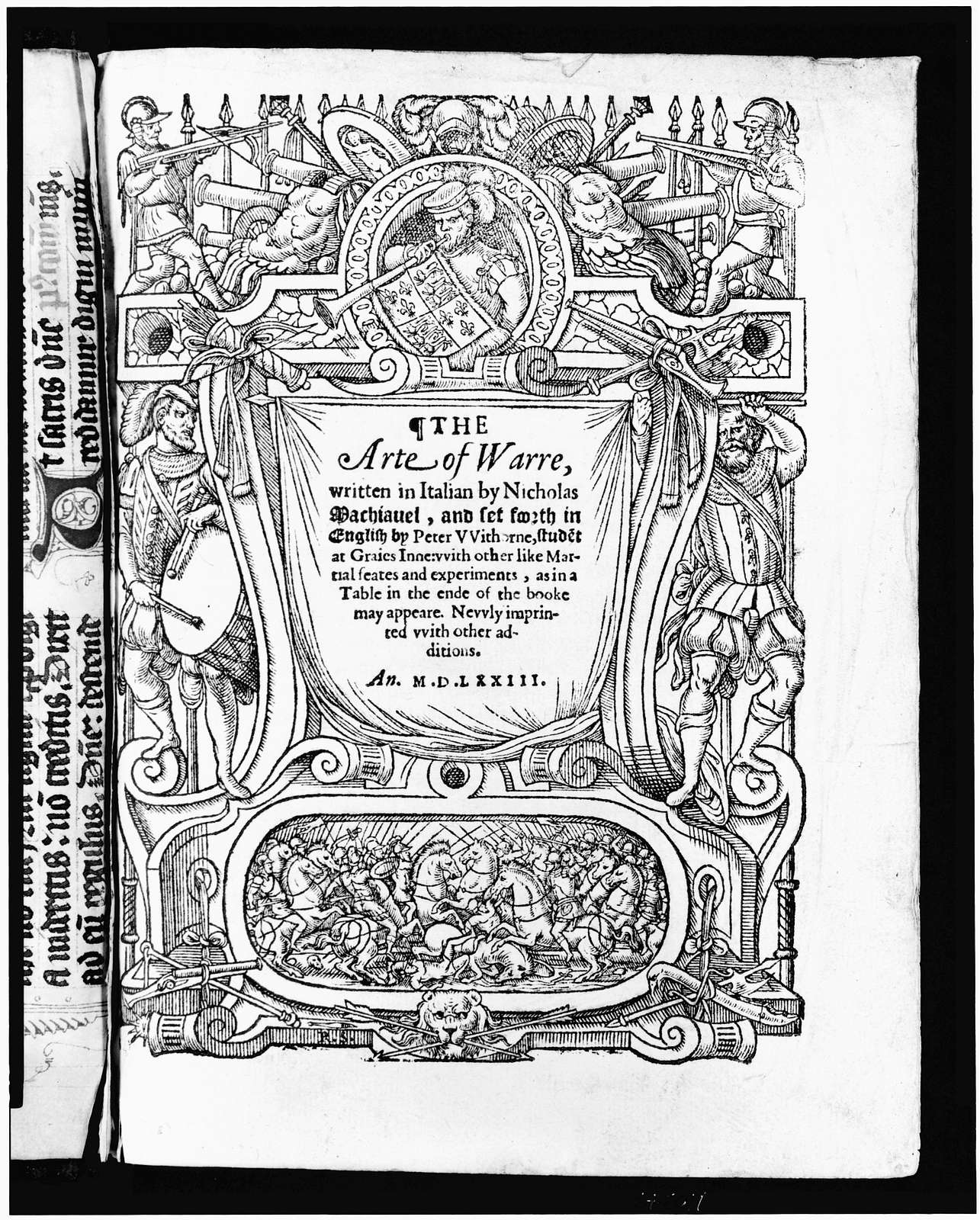[Title page to The arte of warre by Niccolò Machiavelli]