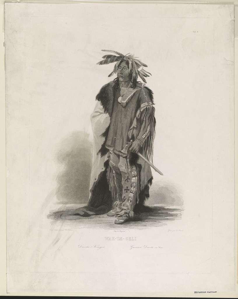 Wak-tae-geli - Dacota Krieger - Guerrier ou Sioux