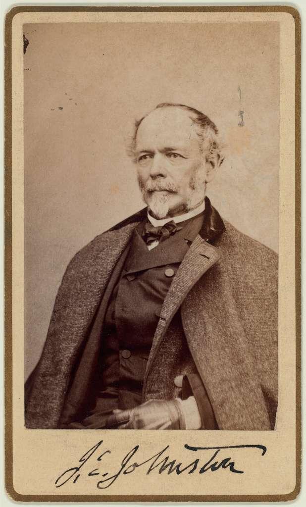 Carte d' visite: Johnston, Joseph E. (Joseph Eggleston), 1807-1891
