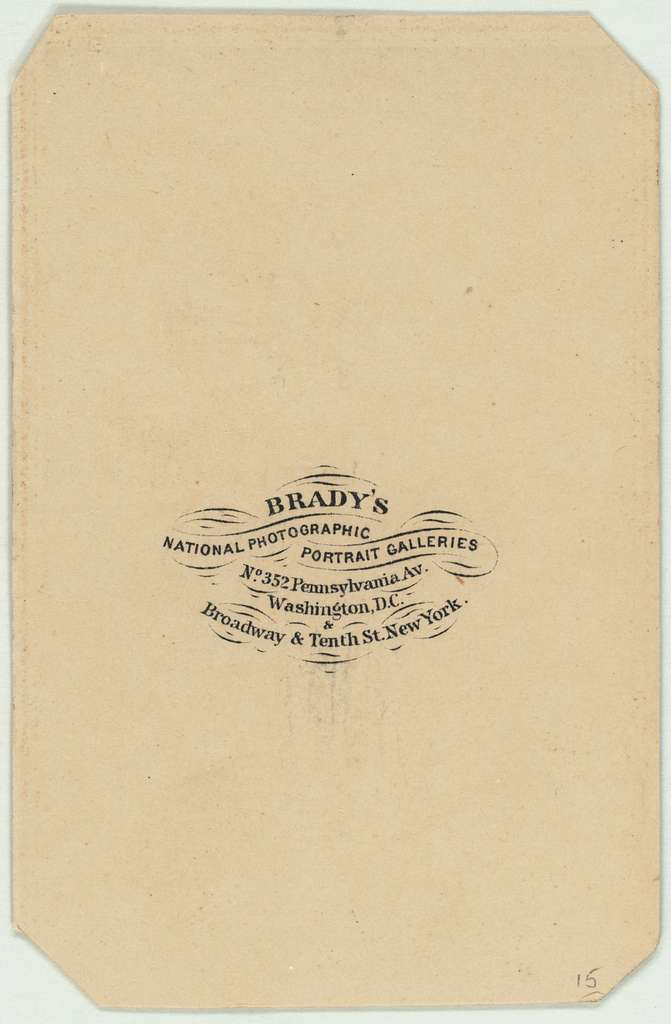 Carte d' visite: Speed, James, 1812-1887