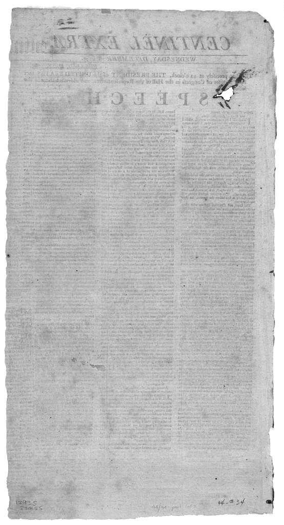 Centinal extra, Wednesday, December 16, 1795.