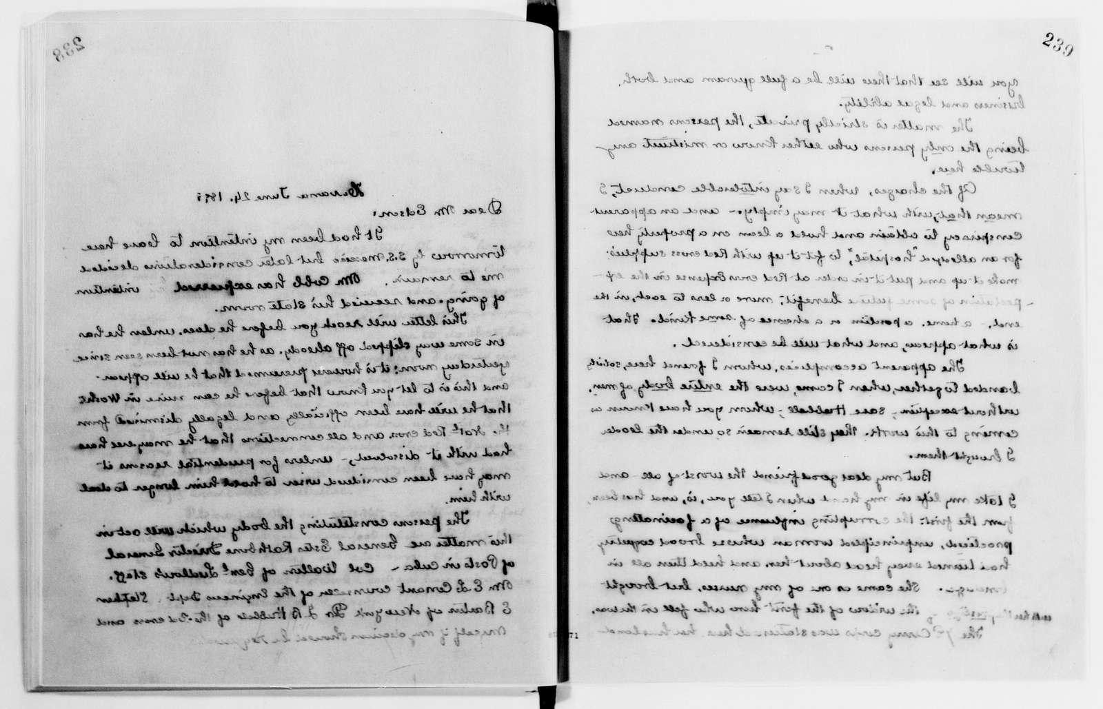 Clara Barton Papers: Letterbooks, 1876-1911; 1899, June-Oct.