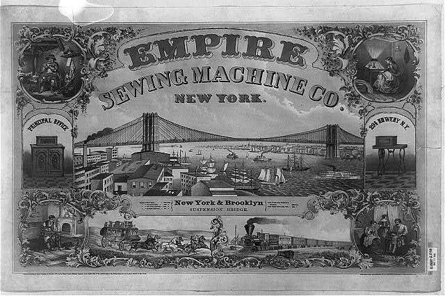 Empire Sewing Machine Co., New York / Henry Seibert & Bros., general lithographers and power press printers, N.Y.