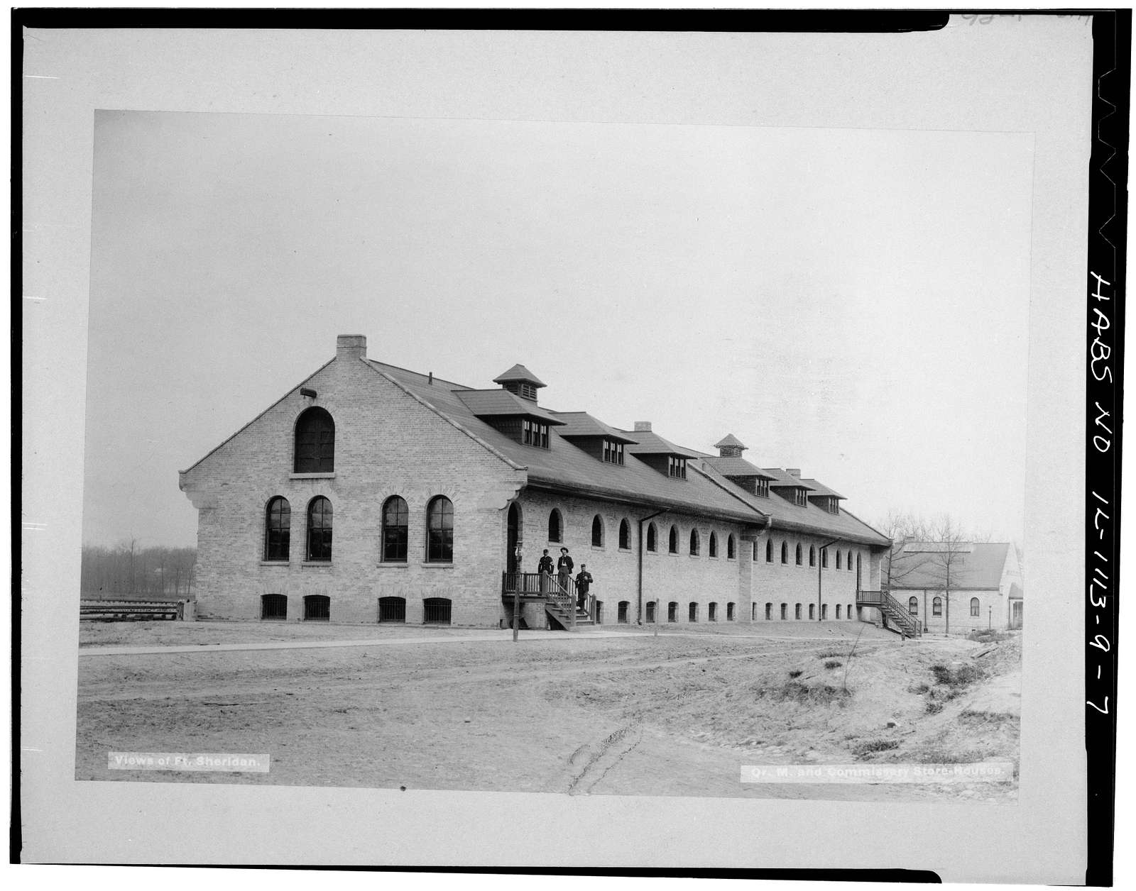 Fort Sheridan, Quartermaster & Commissary Storehouse, Lyster Road, Lake Forest, Lake County, IL