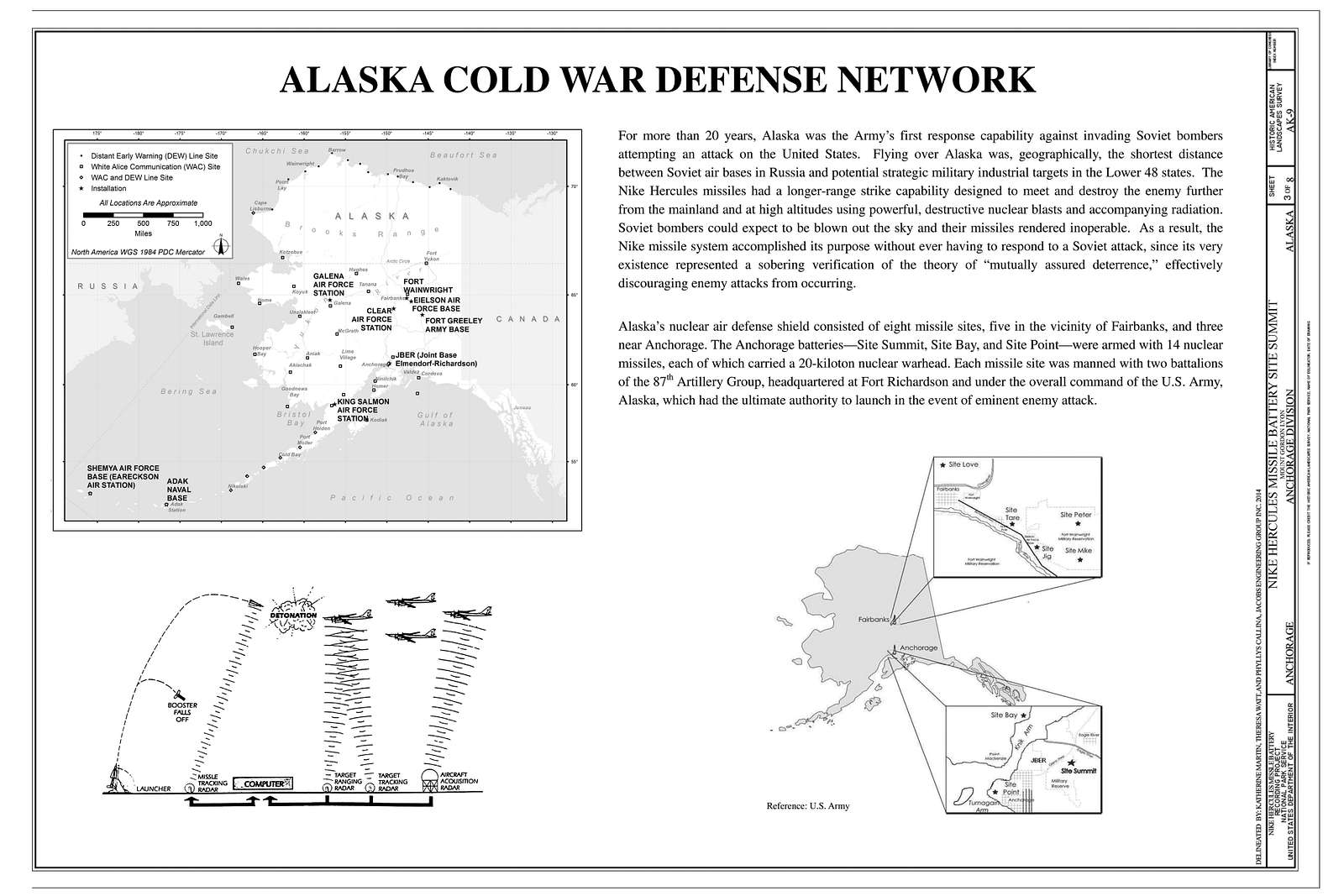 Nike Hercules Missile Battery Site Summit, Mount Gordon Lyon, Anchorage, Anchorage, AK