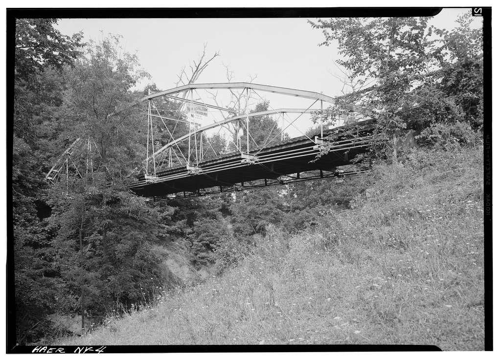 Whipple Cast & Wrought Iron Bowstring Truss Bridge, Normans Kill Vicinity, Albany, Albany County, NY