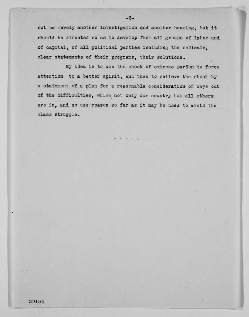 Woodrow Wilson Papers: Series 5: Peace Conference Correspondence and Documents, 1914-1921; Subseries B: Peace Conference Correspondence, 1918-1920; Undated