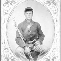 [Portrait of Pvt. George A. Stryker, New York Regiment, U.S.A.]