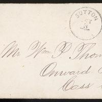 Letter from Uriah W. Oblinger and Laura I. Oblinger to Thomas Family, October 1, 1884