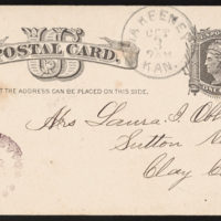 Letter from Uriah W. Oblinger to Laura I. Oblinger, Stella Oblinger, Maggie Oblinger, Ella Oblinger, Sadie Oblinger, and Nettie Oblinger, October 3, 1885