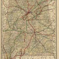Map of northwest Alabama and northeast Mississippi  look and