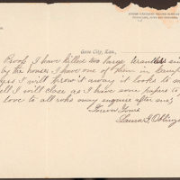 Letter from Laura I. Oblinger to Uriah W. Oblinger, September 23, 1890