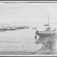 Fishing boats at junction of the Ganges and Brahmaputra