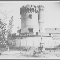 Lahore - turret fortifications of railway station