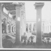 Madura - colonnades and garden of Palace of Tirumal Naya