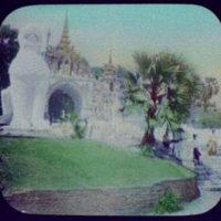 Rangoon - entrance to pagoda
