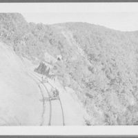 Section cars on the mountain railway - tunnel 19