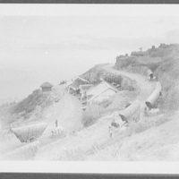 Tea wagons coming down mountain road to Haputale