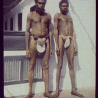 Two aborigines of the Worki (?) tribe, Gilbert R[iver], N. Queensland
