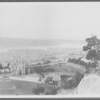 View of Dunedin from Roslyn Heights - high school in foreground
