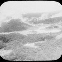 Whakarewarewa geysers on the Waikete geyser crater at Hot Springs