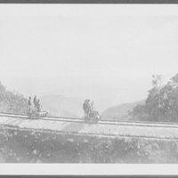WTC [i.e. World Transportation Commission] on section cars coasting down from Newera [i.e. Nuwara] Eliya at 6,000 ft. elevation