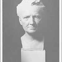 Portrait sculpture of Arnold Genthe