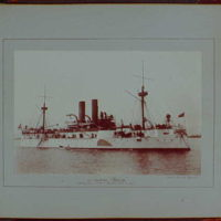 Early years, snapshots, 1896-1898. U.S. battleship Maine, destroyed in Havana Harbor, Feb, 15, 1898