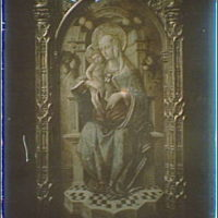 Photograph of a Italian Renaissance painting of the Madonna and Child