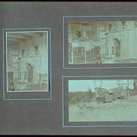 Early years, with images of family, self portraits, landscapes and architectural interiors. Interior of cabin and old cart