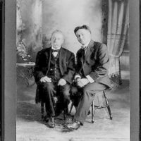 [Houdini with Ira Davenport, full-length portrait, seated]