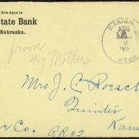 Letter from Estella Stilgebouer to Ella Roesch, August 3, 1911