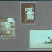 Early years, with images of family, self portraits, landscapes and architectural interiors. Mrs. Gottscho, child in rocker and child on beach