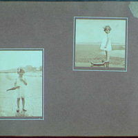 Early years, with images of family, self portraits, landscapes and architectural interiors. Child on beach