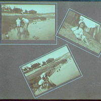 Early years, with images of family, self portraits, landscapes and architectural interiors. At Fort Trumbell Beach, Milford, Connecticut II