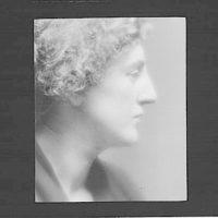 Profile of an American girl (Gertrude Eddington)
