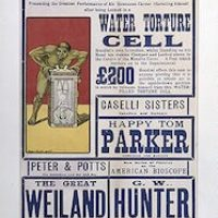[The  world-famous self-liberator Houdini will escape from the water torture cell, Cardiff, Wales]