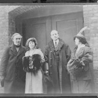 [The  Houdinis and the Hymans, three-quarter length portrait, standing]