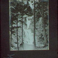 1917-1918, reference prints from negatives. Waterfall through trees, vertical