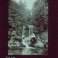 1917-1918, reference prints from negatives. Series of small falls flowing between trees into pool, vertical