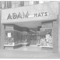 Adam Hats shop. Exterior of Adam Hats shop