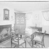 Albert Walker, interiors of home. Dining room of Albert Walker