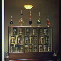 American Institute of Pharmacy. Jar and bottle display at American Institute of Pharmacy II