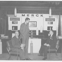 American Photoengravers Association convention. Merck Co. exhibit