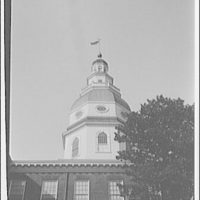 Annapolis, Maryland. Dome of Maryland State Capitol