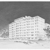 A.R. Clas buildings. Drawing of apartment building I