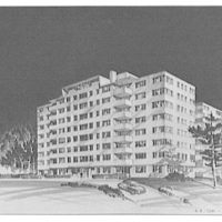 A.R. Clas buildings. Drawing of apartment building III