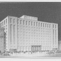A.R. Clas buildings. Drawing of multi-story building IV
