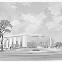 A.R. Clas buildings. Insurance building in color