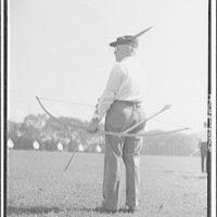 Archers competition. Dr. Robert P. Elmer, Wayne, Pennsylvania, former archery champion